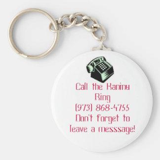 raninu basic round button keychain