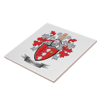 Rankin Family Crest Coat of Arms Ceramic Tile