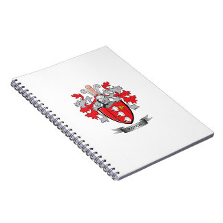 Rankin Family Crest Coat of Arms Notebook