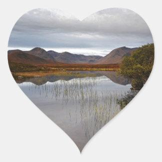 Rannoch Moor, Scotland Heart Sticker