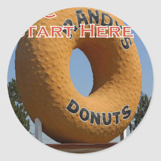 Ransdys Donuts Long Beach California LBC Classic Round Sticker