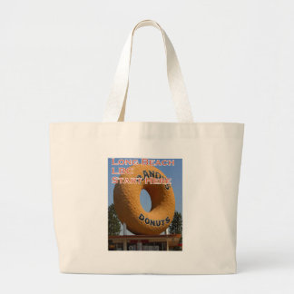 Ransdys Donuts Long Beach California LBC Large Tote Bag