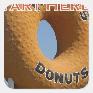 Ransdys Donuts Long Beach California LBC Square Sticker