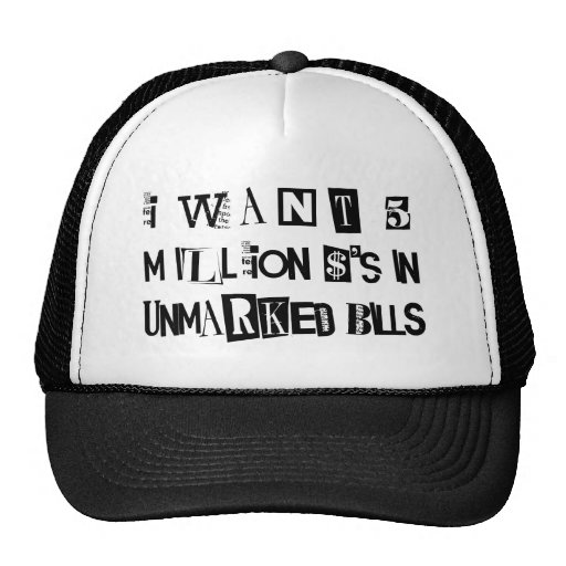 Ransom Note Hat
