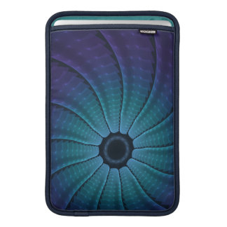 Rantath Flux Bright Blue Abstract Spiral Sleeve For MacBook Air