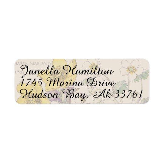 Ranunculus Floral Flowers Address Labels