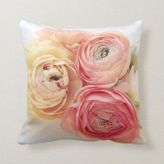 ranunculus warm colours throw pillow