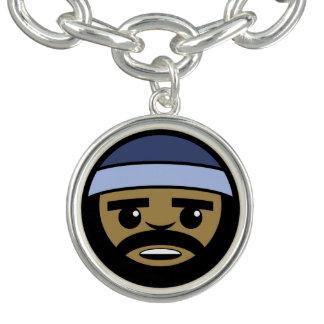 Rap Face Charm Bracelet