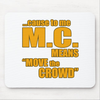 Rap lyric t shirt mouse pad