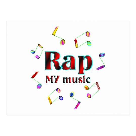 Rap Music Postcard