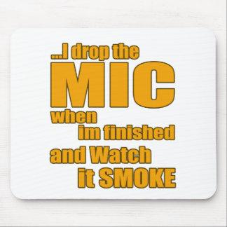 Rap music t shirt mouse pad