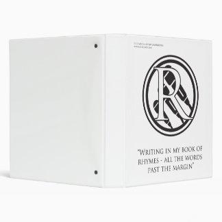 Rap Rebirth, Book of Rhymes, White Vinyl Binder