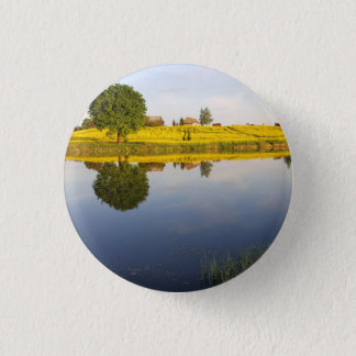 Rapeseed field 1 inch round button
