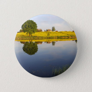Rapeseed field 2 inch round button