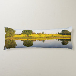 Rapeseed field body pillow