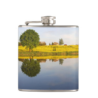 Rapeseed field hip flask