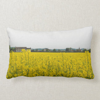 Rapeseed field lumbar pillow
