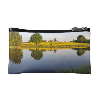 Rapeseed field makeup bag
