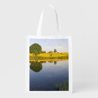 Rapeseed field reusable grocery bag
