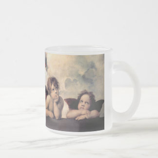 Raphael and Sistine Madonna Frosted Glass Coffee Mug
