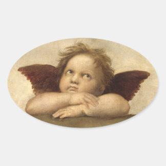 Raphael Angel 2 Oval Sticker
