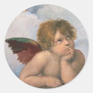 raphael Angel Sticker's Classic Round Sticker