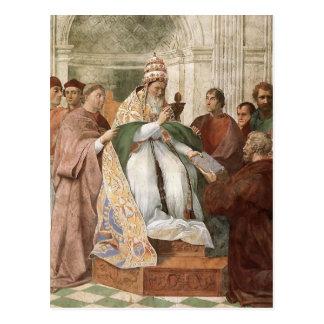 Raphael: Gregory IX Approving the Decretals Postcard