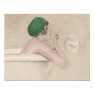 "Raphael Kirchner 1916 ""Bubbles"" Vintage Print Art Photo"
