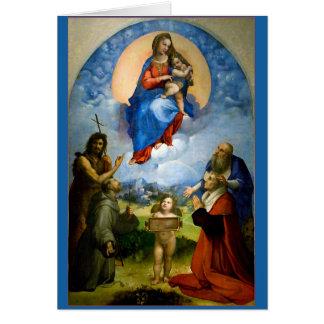 Raphael Madonna & Child Christmas Card