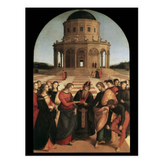 Raphael Marriage of the Virgin Postcard