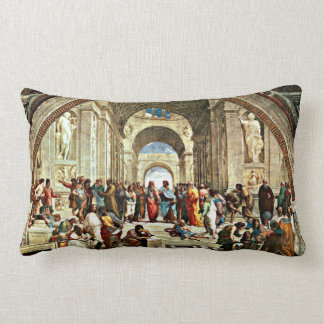 Raphael: School of Athens painting Lumbar Pillow