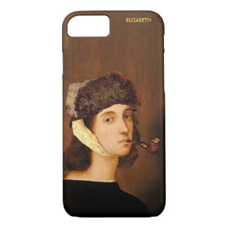 Raphael Self Portrait With Van Gogh Hat And Pipe iPhone 8/7 Case