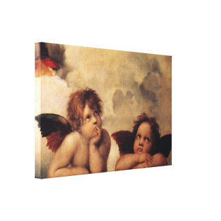 Raphael,Sistine Cherub Canvas Print