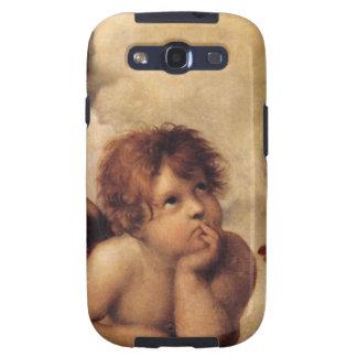 Raphael, Sistine Cherub.  Famous fine art. Galaxy S3 Cover