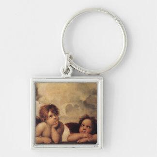 Raphael,Sistine Cherub Keychain