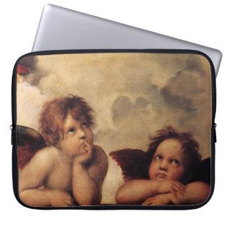 Raphael,Sistine Cherub Laptop Sleeve