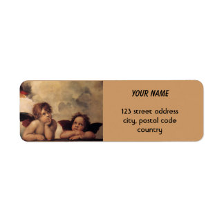 Raphael,Sistine Cherub Return Address Label
