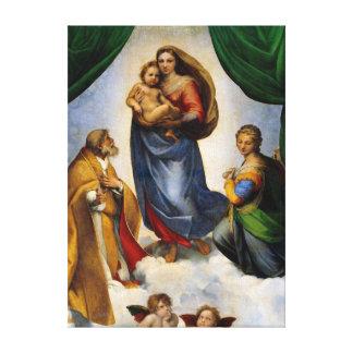 Raphael Sistine Madonna Canvas Print