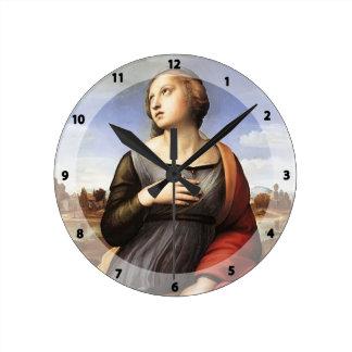 Raphael- St. Catherine of Alexandria Round Clock