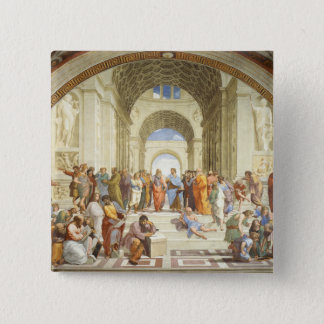 Raphael - The school of Athens 1511 2 Inch Square Button