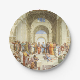 Raphael - The school of Athens 1511 Paper Plate
