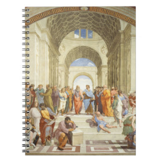 Raphael - The school of Athens 1511 Spiral Notebook