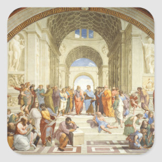 Raphael - The school of Athens 1511 Square Sticker
