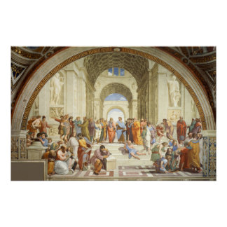 RAPHAEL - The school of Athens 1512 Poster