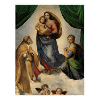 Raphael - The Sistine Madonna Postcard