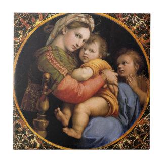 Raphael's Madonna della sedia Decorative Tile