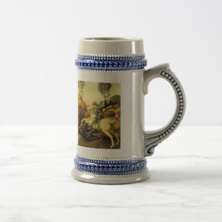 """Raphael's """"St. George and the Dragon"""" (circa 1505) 18 Oz Beer Stein"""