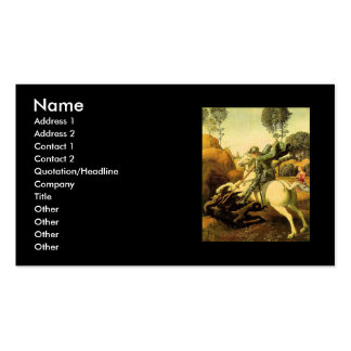"""Raphael's """"St. George and the Dragon"""" (circa 1505) Business Card"""