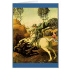 """Raphael's """"St. George and the Dragon"""" (circa 1505) Card"""