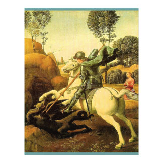 """Raphael's """"St. George and the Dragon"""" (circa 1505) Flyers"""